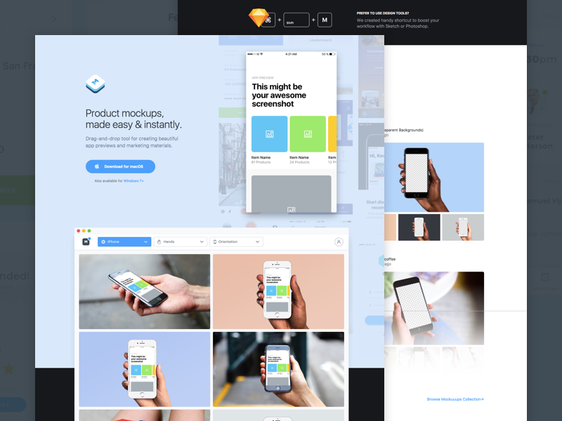 Mockuuups Studio mac design app tool iphone mockup