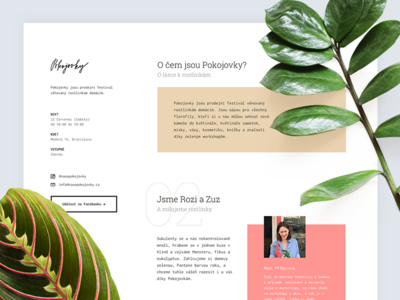 🌿 Pokojovky (Plants festival) webflow nature leaves plants website page landing