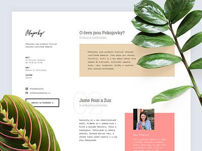 🌿 Pokojovky (Plants festival) webflow nature leaves plants website page landing