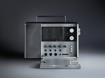 Braun Radio braun radio controls player volume illustration drawing