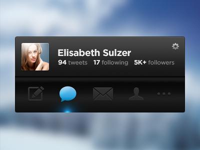Twitter interface