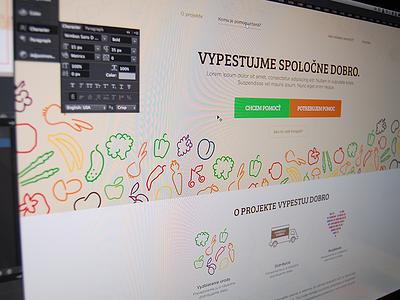Homepage for non-profit org organization website design brand non profit vegetables