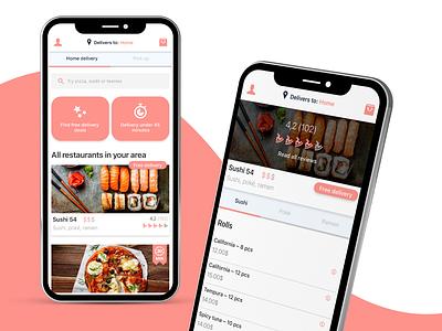 Foodora remake ux illustrator photoshop adobe xd design branding interface design foodora interface ui mobile ui mobile
