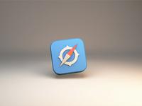 Safari icon 3dmodeling