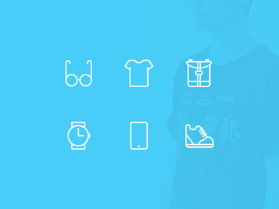 Personal belongings icons design icons