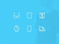 Personal belongings icons