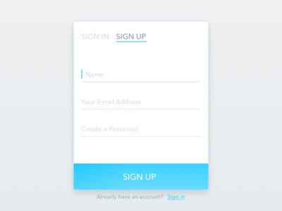 Daily UI #1 - Signup signup dailyui ui sketch