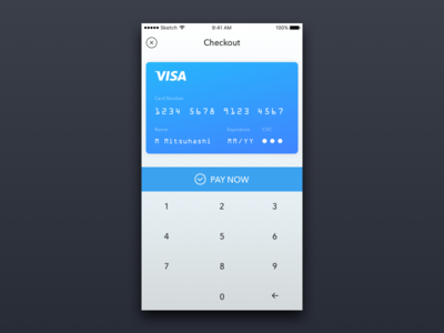 Daily UI #2  re: Credit Card Checkout UI credit card checkout dailyui ui sketch