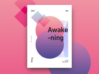 Awakening poster gradation design graphic