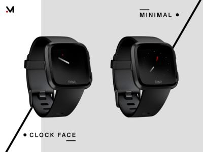 Minimal design Clock face
