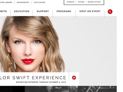 Grammy Museum L.A. mast header navigation tickets music icon newsletter search grammy website css html