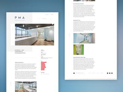 PMA Architecture - Project Detail hero button footer header modern minimal detail website web architecture