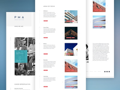PMA Architecture - About history categories projects about profile modern minimal website web architecture