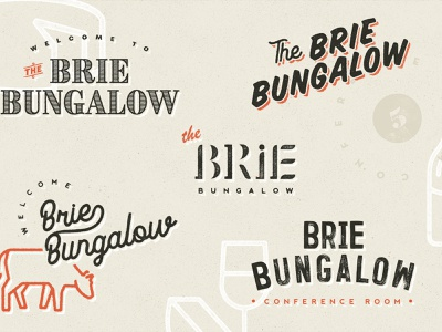 Brie Bungalow logos spec conference identity way finding print signage logo branding cheese
