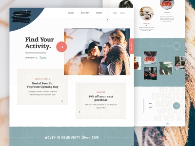 Welcome to ██████ Mill ux ui flat design button textile texture cloth sewing stores shops market shop mill footer navigation digital experience design website web