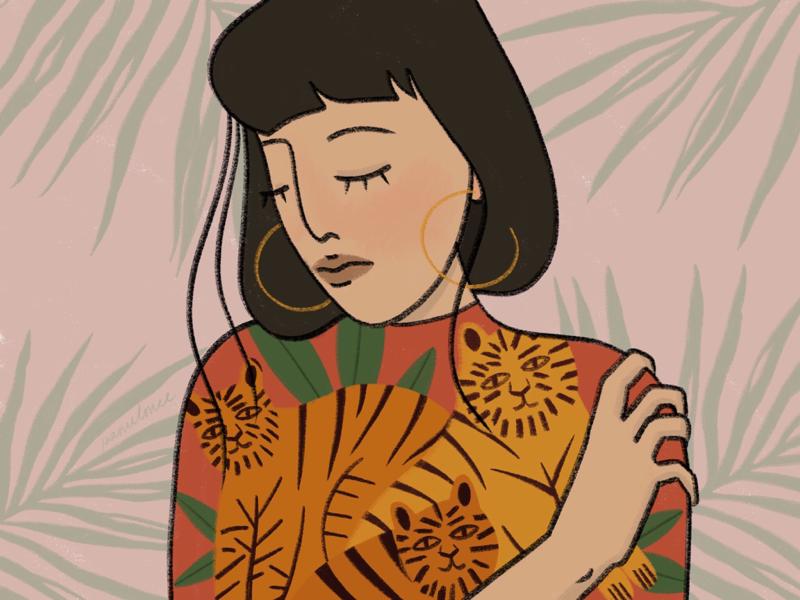 Kitty procreate color portrait web illustration book illustration illustrator illustration