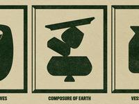 Formal Meditations earth frame balance ceramics flat form study form design print form composition