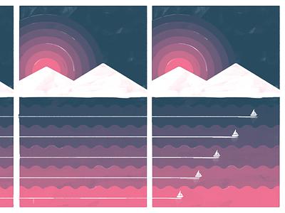 So Long Sofar so long boat sail sunset halftone gig poster gig illustration texture