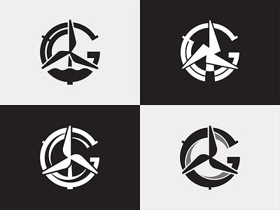 Big Spinners clean energy wind spin ocean wind turbine visual identiy mark brand logo