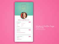 Medical Profile Page