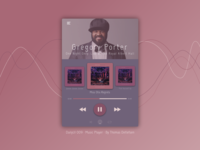 Music player - Daily ui 009