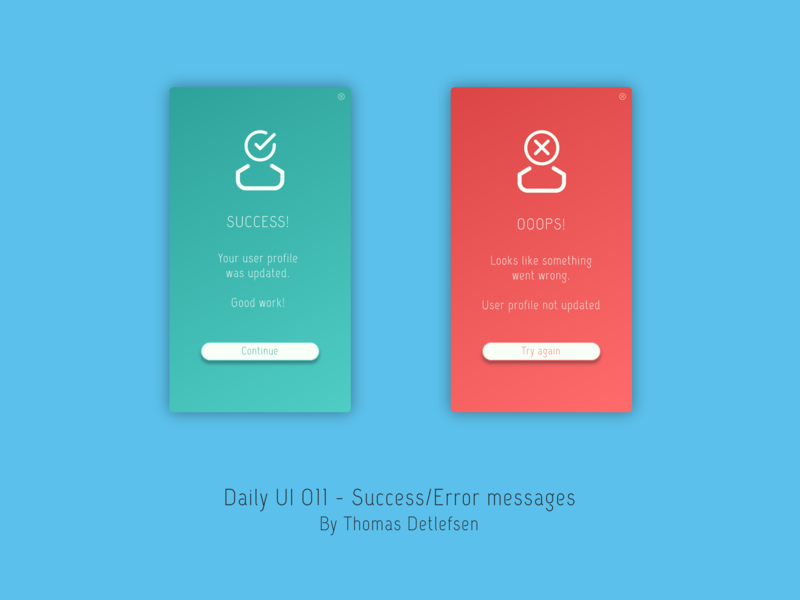 Flash Message - Error/Success design uipractice concept success message error message daily ui 011