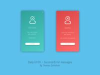 Flash Message - Error/Success