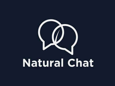 Natural Chat Logo gotham app icon branding simple logo minimalist chat logo meaningful logo negative space leaf logo creative leaf logo negative space logo messaging logo minimal chat logo logodesign conversation logo message logo chat logo natural conversation logo creative chat logo clever message logo clever chat logo