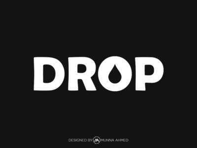 creative drop logo