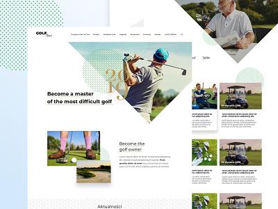 Golf website ux ui branding shape triangles triangle news website news feed news landscape landing golfer golf club golf website design web design website webdesign