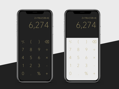 Minimal Calculator mobile app design calculator ui dark gold iphone ios calculator minimal