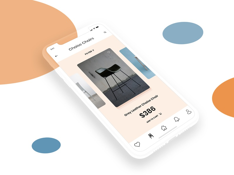 Furniture App UI Design store shopping design ui scrolling cards listing iphone ios app mobile ecommerce app marketplace app shopping app mobile app ui design adobe xd furniture app design interface design ux interaction design