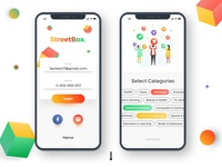 Streetbox - Coupons and Discount app design
