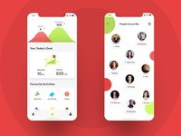Walkato - Fitness App UI Design
