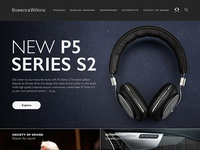 Bowers & Wilkins Home Page Concept