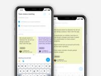 BSM iPhone App - Email, Meeting detail