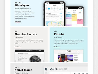 HeyHeyJo (Personal Site) Work Grid design slider iphone minimal typography clean portfolio site personal site graphic desgin ui deisgn portfolio grid wbedesign website
