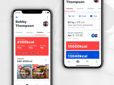 Fitness App - PT customer page