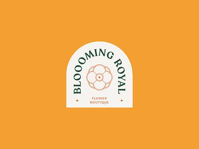 Blooming Royal minimalist minimalism flowers flower flat pastel vector minimal logo design branding