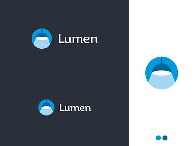 Lumen light chandelier lamp blue minimalistic minimalist pastel logotype minimalism illustrator flat vector minimal logo design branding