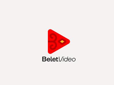 Belet Video minimalistic minimalist minimalism logotype flat vector minimal logo design branding