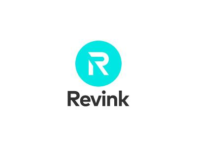 Revink letter r blue r letter icon minimalistic minimalist logotype minimalism flat vector minimal logo design branding