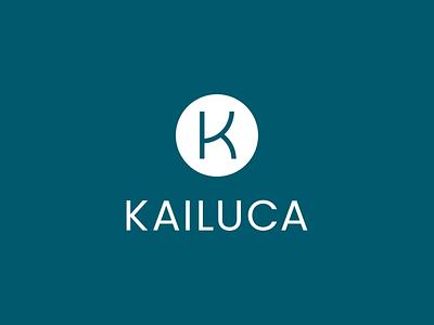 Kailuca k letter blue icon minimalistic minimalist logotype minimalism flat vector minimal logo design branding