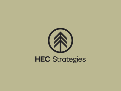 HEC Strategies green ground pine tree tree pine icon minimalistic minimalist logotype minimalism flat vector minimal logo design branding