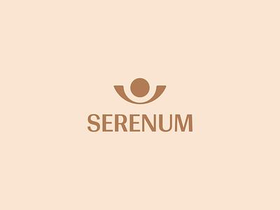 Serenum elegant luxury lux biege yellow pastel flat vector minimalist minimalistic minimalism minimal logo design branding