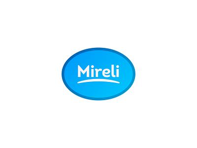 Mireli light ellipse oval round blue gradient flat vector minimalistic minimalism minimal logo design branding