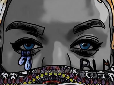 BLM digital design graphic drawing art