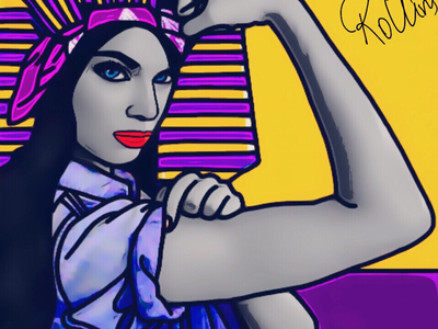 Queens Can Do It! lady girl woman design graphic digital art drawing painting art