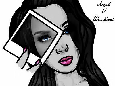 Reality Vs. Illusion sketch illustration lady graphic girl design woman digital art painting drawing art