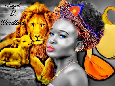 Promise Land israel honey milk lamb lion sketch lady graphic girl design woman digital art painting drawing art